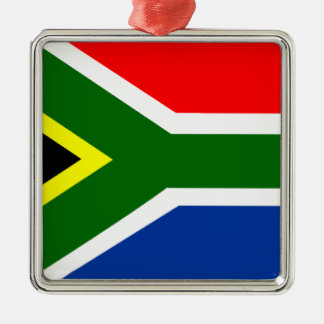 Flag of South Africa Silver-Colored Square Decoration