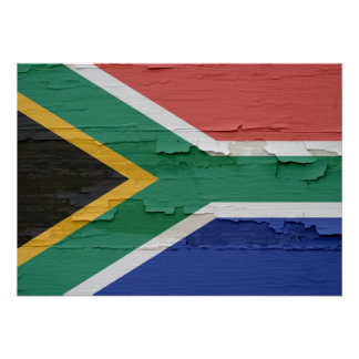 Flag of South Africa Weathered Poster