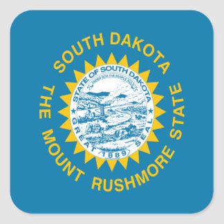 Flag of South Dakota Square Sticker