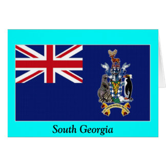Flag of South Georgia Greeting Card