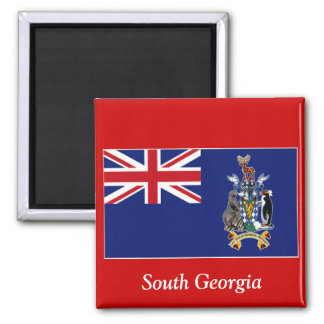Flag of South Georgia Square Magnet