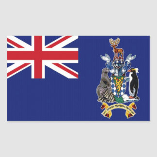 Flag of South Georgia Rectangle Stickers