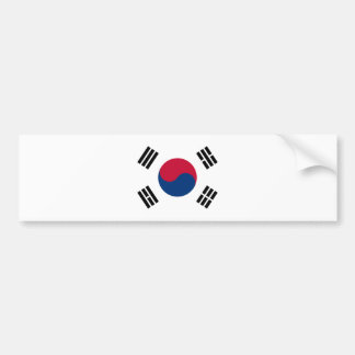 Flag of South Korea - 태극기 - 대한민국의 국기 Bumper Sticker