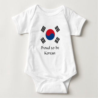 Flag of South Korea Baby Bodysuit