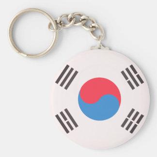 Flag of South Korea Basic Round Button Key Ring