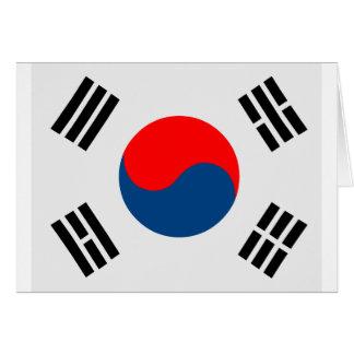 Flag of South Korea Card