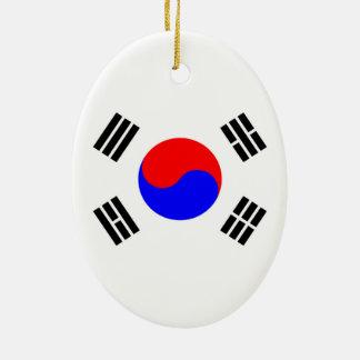 Flag of South Korea Ceramic Oval Decoration