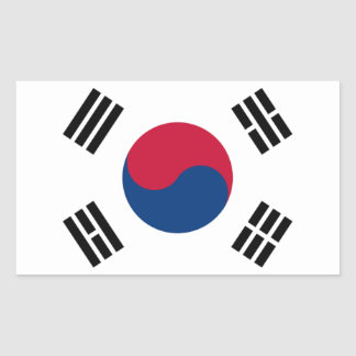 Flag of South Korea Rectangular Sticker