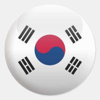 Flag of South Korea Round Sticker