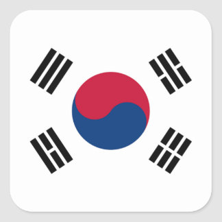 Flag of South Korea Square Sticker