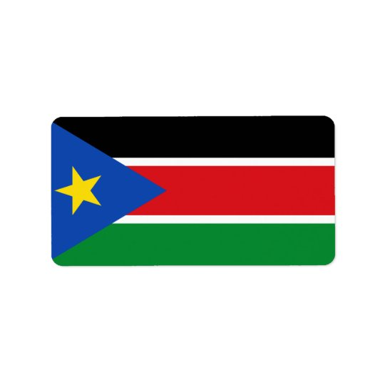 Flag of South Sudan Labels