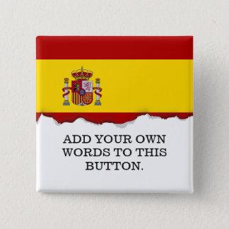 Flag of Spain 15 Cm Square Badge