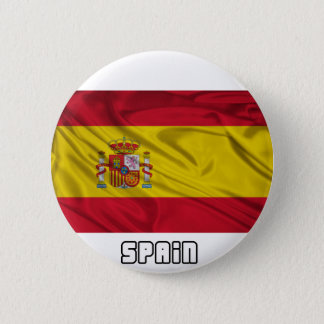 Flag of Spain 6 Cm Round Badge