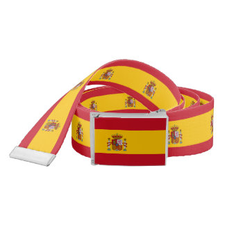 Flag of Spain - Bandera de Espana Belt