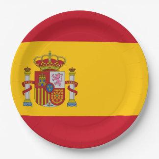 Flag of Spain - Bandera de Espana Paper Plate