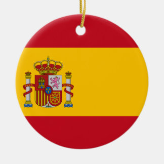 Flag of Spain - Bandera de España - Spanish Flag Christmas Ornament