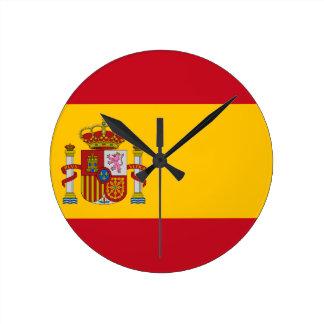 Flag of Spain - Bandera de España - Spanish Flag Round Clock