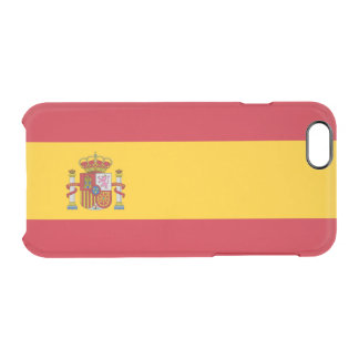 Flag of Spain Clear iPhone Case
