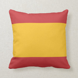 flag of spain colors cushion