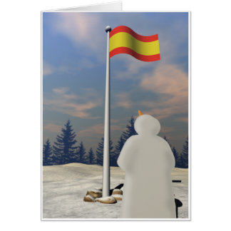 Flag of Spain Greeting Card