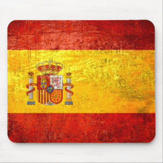 Flag of Spain Grunge Country flags Spain Mouse Mat