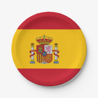 Flag of Spain Paper Plates