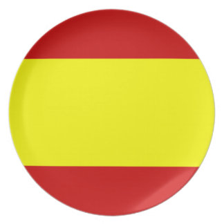 Flag of Spain Party Plate