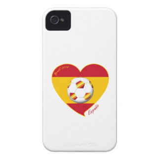 Flag of SPAIN SOCCER of national team 2014 iPhone 4 Case-Mate Cases