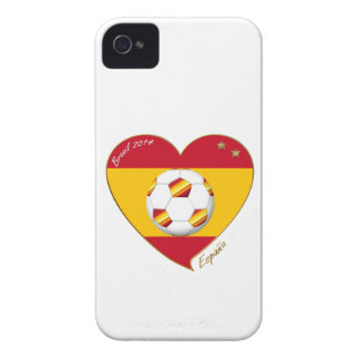 Flag of SPAIN SOCCER of national team 2014 iPhone 4 Covers