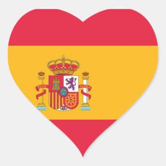 Flag of Spain Heart Sticker