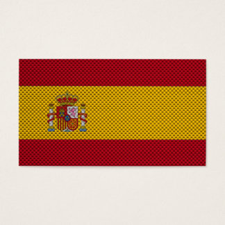 Flag of Spain with Carbon Fiber Effect Business Card