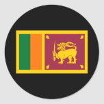 Flag of Sri Lanka Round Sticker