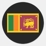 Flag of Sri Lanka Round Sticker