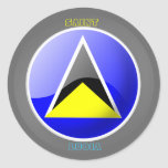 FLAG OF ST LUCIA ON STICKER