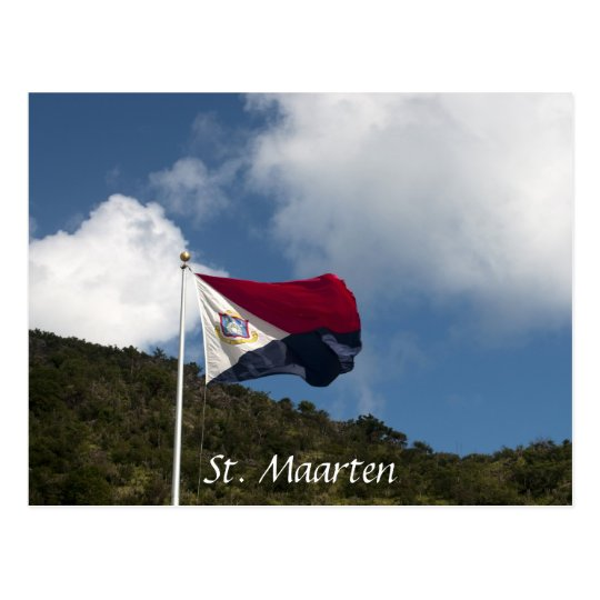 Flag of  St. Maarten Postcard