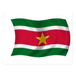 Flag of Suriname Postcard