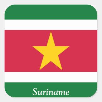 Flag of Suriname Square Sticker