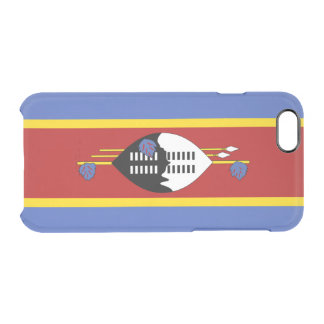 Flag of Swaziland Clear iPhone Case
