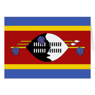 Flag of Swaziland Greeting Card