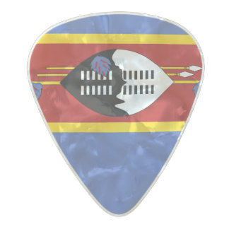 Flag of Swaziland Guitar Picks Pearl Celluloid Guitar Pick