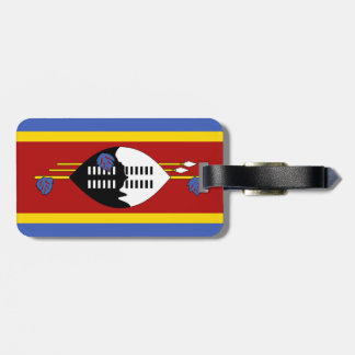 Flag of Swaziland Luggage Tag w/ leather strap