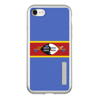Flag of Swaziland Silver iPhone Case
