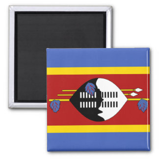 Flag of Swaziland Square Magnet