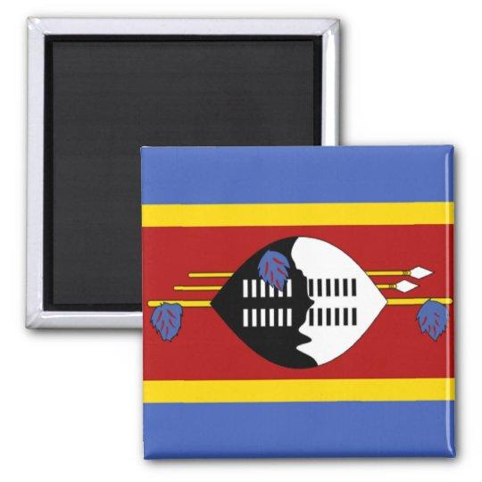 Flag of Swaziland Square Magnet