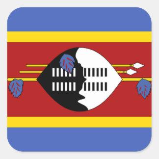 Flag of Swaziland Square Sticker