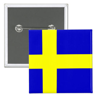 Flag of Sweden 15 Cm Square Badge