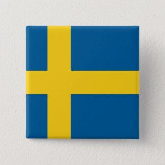 Flag of Sweden 15 Cm Square Badge