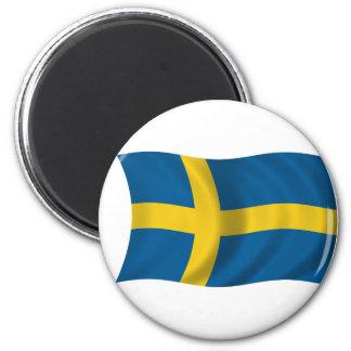 Flag of Sweden 6 Cm Round Magnet
