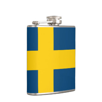 Flag of Sweden Flasks