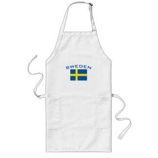 Flag of Sweden Long Apron